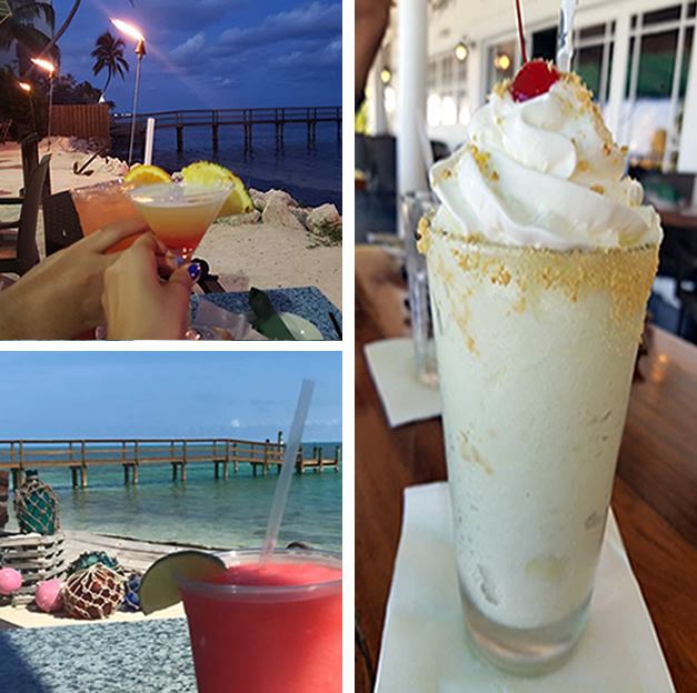 Specialty Drinks At Lazy Days Islamorada